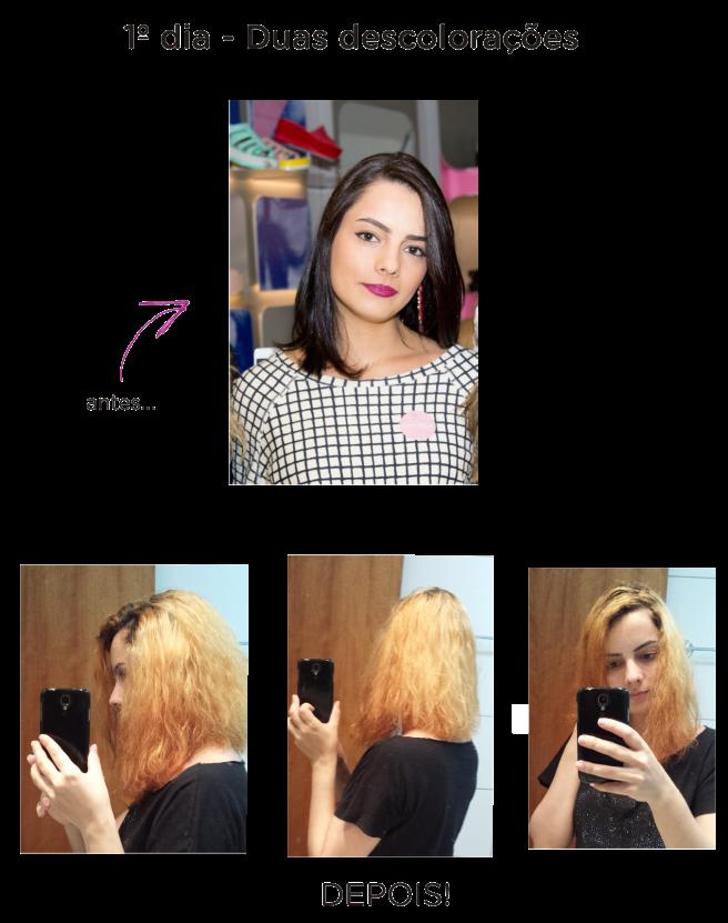blond me scharzkopf descoloração dos cabelos em casa antes e depois leidi turatti
